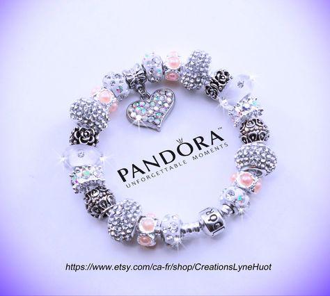 Authentique bracelet PANDORA argent sterling à fermoir à | Etsy ...