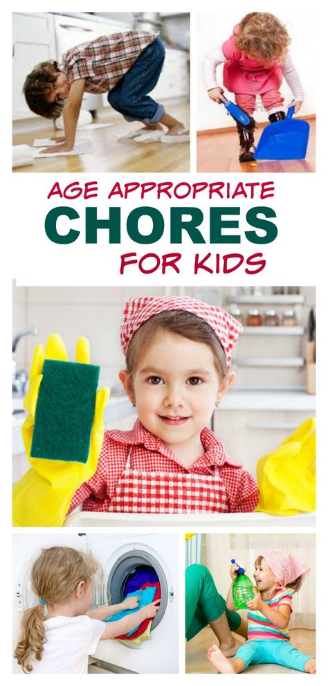 A FANTASTIC list of age appropriate chores for toddlers, preschoolers, and young school age children.