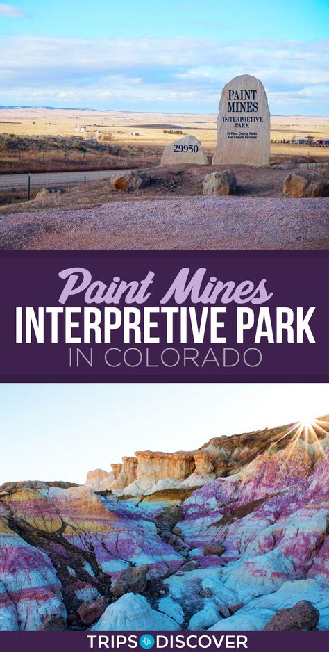 This Park in Colorado Offers Colorful Views Like You've Never Seen Before - Paint Mines Interpretive Park in Colorado Offers Colorful Views Like No Other - Le Colorado, Road Trip To Colorado, Visit Colorado, Colorado Hiking, Colorado Mountains, Houses In Denver Colorado, Colorado Springs Things To Do, Colorado Springs Hotels, Central City Colorado