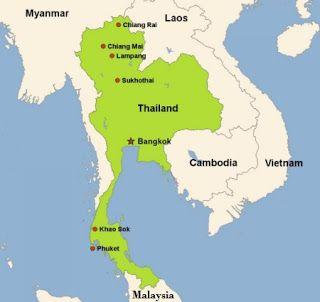 Gambar Negara Thailand Adalah Peta Negara Thailand Peta Thailand Gambar