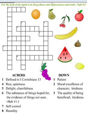 Free Printable Fruit Of The Spirit Bingo