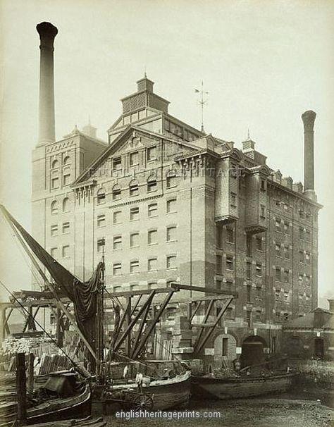 Robinsons Flour Mill, Deptford, London 1883
