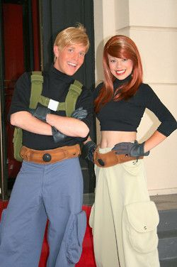 Ron Stoppable and Kim Possible! Call them, beep them, if you wanna reach them THIS is the CUTEST ever!