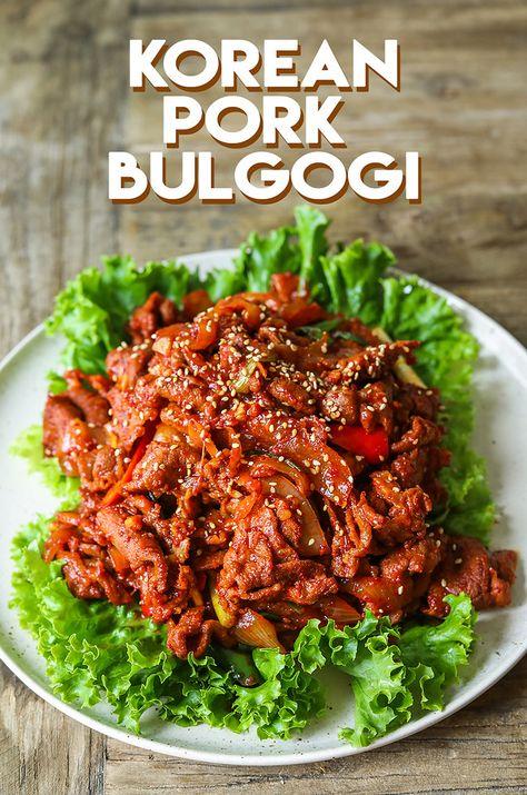 Korean Spicy Pork Bulgogi | Recipe | Pork bulgogi recipe ...