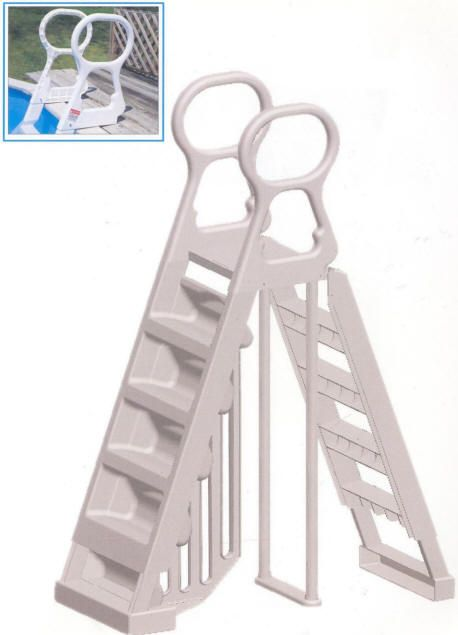 ocean blue 48 56 ladder 13999 simple a frame ladder with anti entrapment barrier ocean blue 42 ladder 14999 deck ladder with anti entrap pinteres