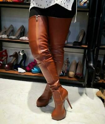 Womens Nightclub High Stiletto Heel Over The Knee Thigh Boots Shoes Platform Hot