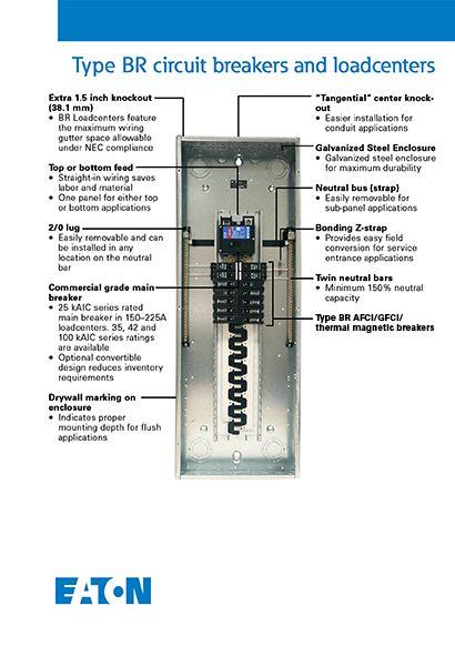 Eaton 100 Amp Double Pole Type Br Circuit Breaker Br2100cs The