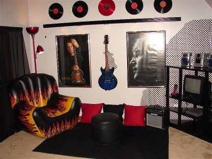 Elegant Rock U0026 Roll Guitar Bedroom By A Teen Sister For A Teen Brother! | Boyu0027s Room  Ideas | Pinterest | Guitar Bedroom, Bedrooms And Music Bedroom