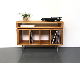 Empiles Sonor Tv Media Console Rangement En Disque Vinyle En
