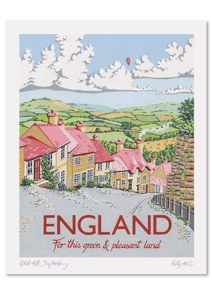 Kelly Hall England Print Posters Uk Travel Posters Vintage Posters