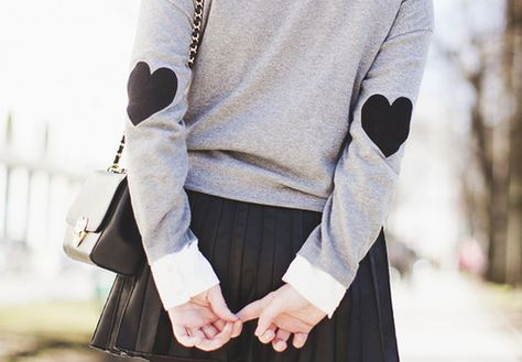 Heart Elbow Patches #KFashion