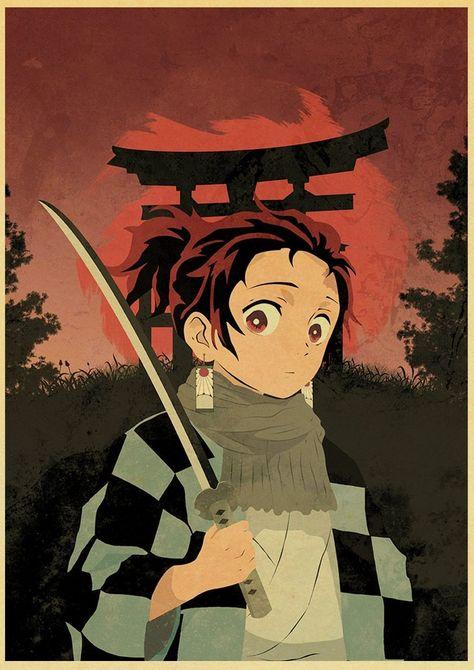 Japanese Comic Movie Demon Slayer Mugen Train Anime Poster Kimetsu no Yaiba : Mugen Ressha-hen Art Painting Wall Stickers - 30X21cm-24 / Q038 / China