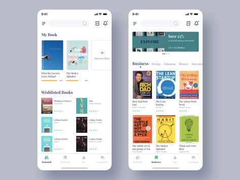 5 Cool User Interface for Bookstore