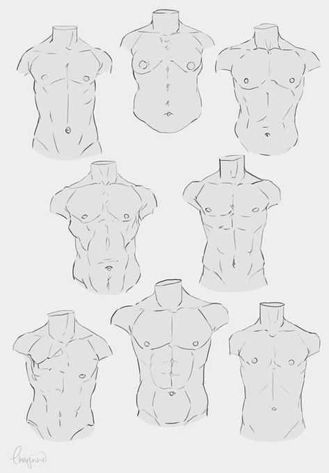 Diferent body references for drawing sketching