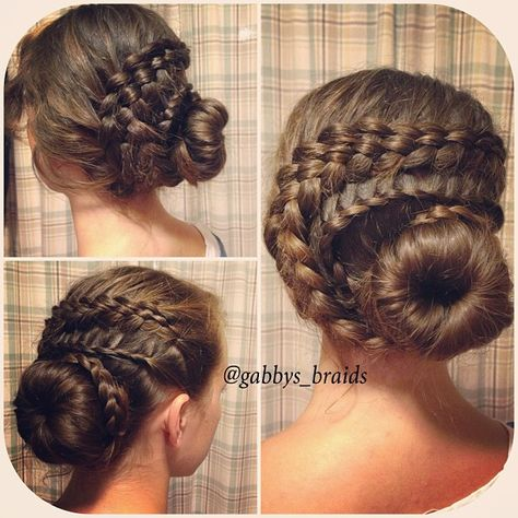 #5strandbraid #hair #lacebraid #braid #hairstyle #bun | by gabbys_braids