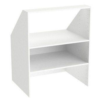 Caisson Sous Pente Spaceo Home Blanc H 100 X L 80 X P 60 Cm In 2020 Closet Organizing Systems Home Decor Understairs Storage