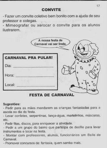 Pin Em Atividades De Carnaval