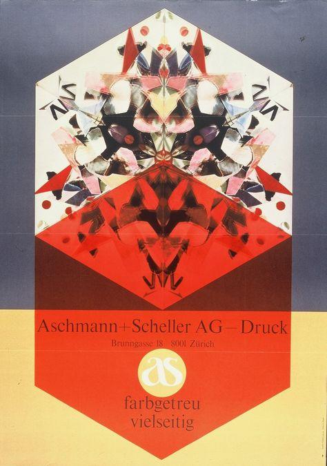 Aschmann Scheller Roberto Lauro 1965 Farben Drucken Asche
