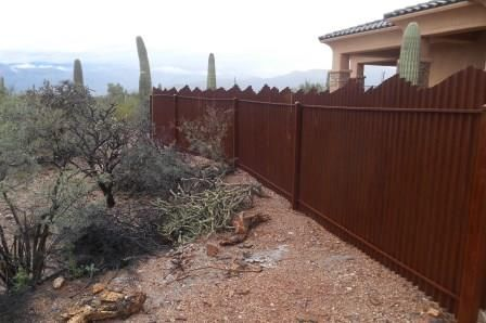 Corrugated Steel Fence And Gates