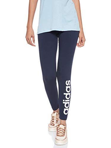 Adidas Damen Essentials Linear Tights Legend Ink White L Adidas Damen Kleidung Online Frauen In Leggings