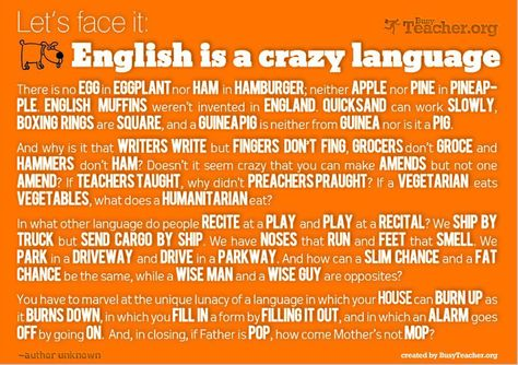 The English language is kinda funny....