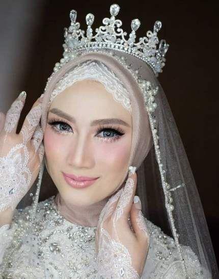 40 Ideas For Makeup Wedding Hijab Eyes Wedding Hijab Wedding Hijab Styles Muslim Wedding