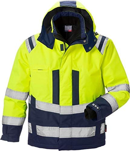 HI VIZ site JACKET waterproof INSULATED WARM WINTER BRIGHT YELLOW COAT WORK WEAR