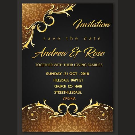 Invitation Card Design Template Wedding Invitation Card