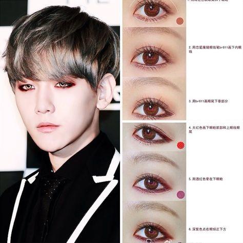 Baekhyun S Eyeliner Tutorial Male Makeup Kpop Makeup Tutorial Korean Eye Makeup
