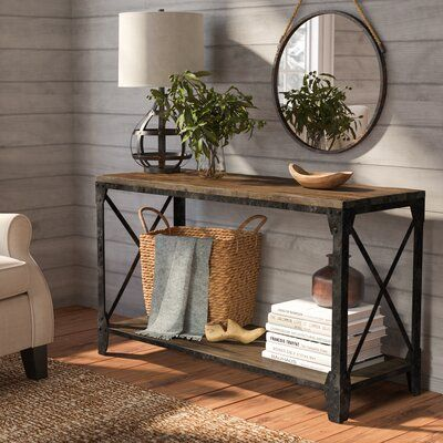Trent Austin Design Beckfield TV Stand for TVs up to - Living in a dream - Console Table Entryway Decor, Entryway Tables, Entryway Ideas, Entryway Table Decorations, Fall Entryway, Rustic Entryway, Foyer Decorating, Decorating Ideas, French Country Decorating