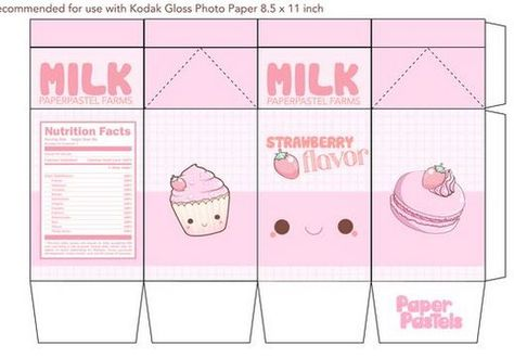 9 Best Images of Milk Kawaii Printable Papercraft - Kawaii Milk Carton Template, Cute Kawaii Milk Papercraft and Kawaii Milk Papercraft Printable Anime Crafts, Kawaii Crafts, Kawaii Diy, Diy Gift Box, Diy Gifts, Diy Paper, Paper Crafts, Paper Doll Template, Instruções Origami