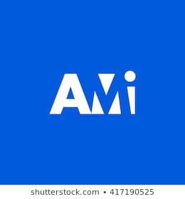 Ami Logo Vector Graphic Branding Letter Element White Background