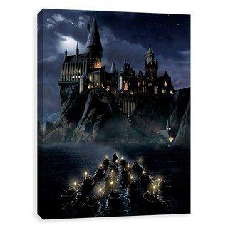 Artissimo Harry Potter Hogwarts First Night Sail Canvas Wall Art Harry Potter Wallpaper Wall Canvas Hogwarts