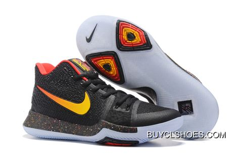 Discount Nike Kyrie 3 Black Red-Gold Men S Basketball Shoes in 2019 ... 0b0e8baed