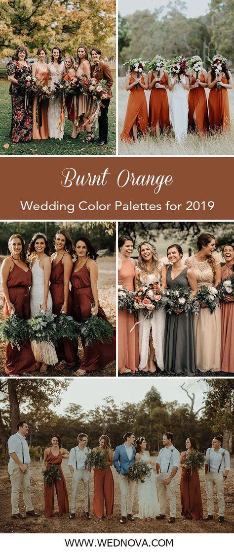 Burnt Orange Bridesmaid Dresses Mix and Match Bridesmaid Dresses#weddings#weddingtrends2020#bridesmaiddresseswedding trends 2020 | bridesmaid dresses | wedding trends | weddingtrend | burnt orange bridesmaid dresses | burnt orange wedding | mix and match bridesmaid dresses
