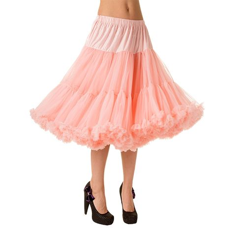 Orange 50/'s Rockabilly Super Soft 26 inches Petticoat Skirt By BANNED Apparel