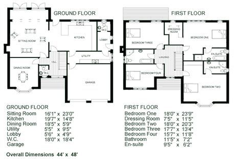 Ideas For House Plans Simple 2 Story Floor Plan With Dimensions Two Story House Plans Story House
