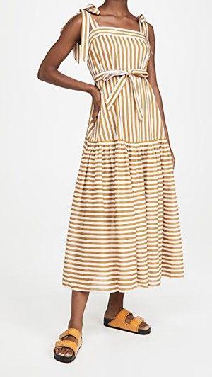 Sarah Sherman Samuel In 2021 Maxi Dress Striped Casual Dresses Dresses