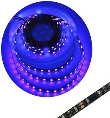 Uv Blacklight Led Strip Waterproof 16ft 3528smd Ultraviolet Light Uv Led Strip 168100700043 Ebay In 2020 Led Light Strips Uv Led Ultra Violet