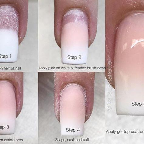 Baby Boom Nail Fedding Step By Step Diy Acrylic Nails Dipped Nails Arylic Nails