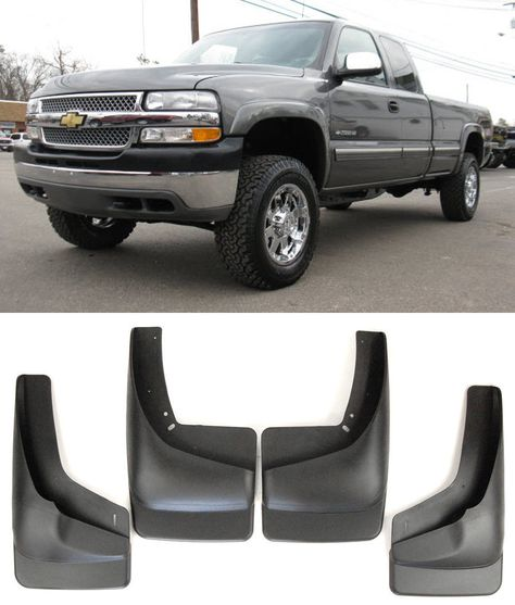 For 2014-2016 Chevy Silverado Front Rear 4PCS Set Splash Mud Splash Guards Flaps