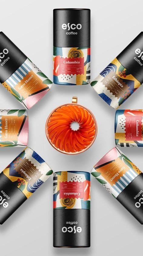Esco coffee packaging design by Widarto Impact