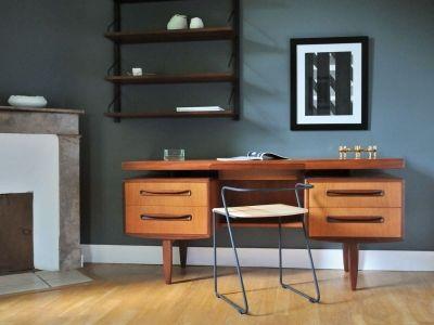 Bureau Vintage Teck Design Scandinave Kofod Larsen G Plan Bureau Ancien Meuble Design Meuble Vintage