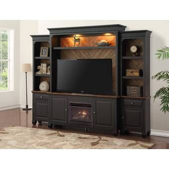 Entertainment Center For Tvs Up To 70 With Electric Fireplace
