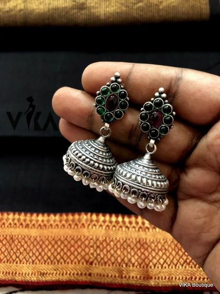 Pure 925 Sterling Silver Stud Earrings,Oxidize Designer Stud Earrings,Traditional Women Gift,Vintage Look,Handmade Jewelry,FREE SHIPPING Ear