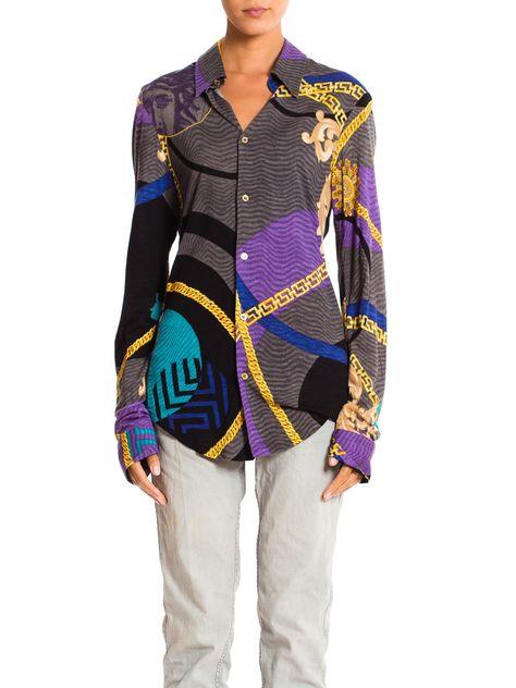 Gianni Versace Printed Jersey Shirt