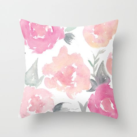 Buy Muted Floral Watercolor Design by Jenna Kutcher as a high quality Throw Pillow. Worldwide shipping available at Society6.com. Just one of millions of products available.
