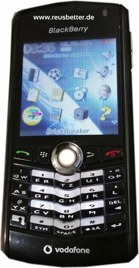 Blackberry Pearl 8100 Smartphone 2 2 Zoll Edge 1 3 Mp Ohne Vertrag Handyvertrag