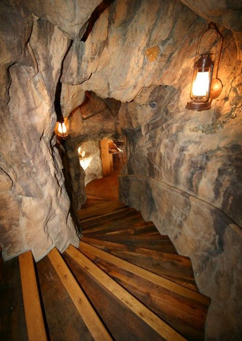 Awesome entrance to the a woman Cave. Woman Cave Design Ideas, Pictures, Remodel, and Decor Stairway leading to the woman cave. Man Cave Designs, Bar Designs, Secret Passage, Ultimate Man Cave, Deco Nature, Hidden Rooms, Woman Cave, Man Room, Deco Design