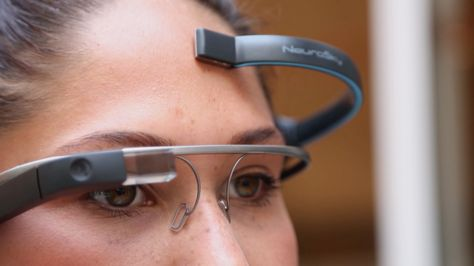 """Forget """"OK Glass,"""" MindRDR Is A Google Glass App You Control With Your Thoughts http://techcrunch.com/2014/07/09/forget-ok-glass-mindrdr-is-a-new-google-glass-app-that-you-control-with-your-thoughts/"""